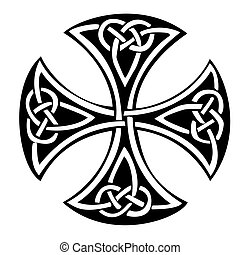 Celtic Cross - An illustration of a Celtic cross with a...