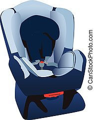 Car seat illustration - An illustration of a child's car...
