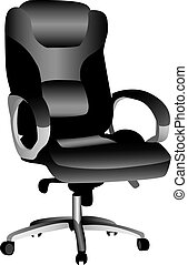 Office Chair - A 3D illustration of an office chair,...