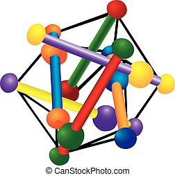 Colorful Toy - An illustration of a colorful toy in a...