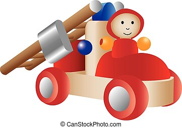 illustration of a firetruck toy - An illustration of a...