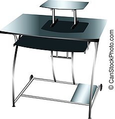 Computer desk workstation - A small desk or workstation...