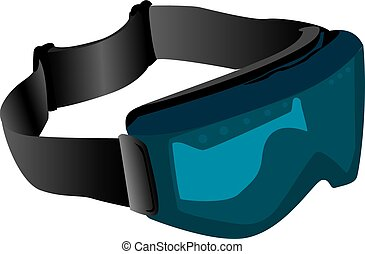 Tinted ski goggles - Illustration of blue tinted ski goggles...