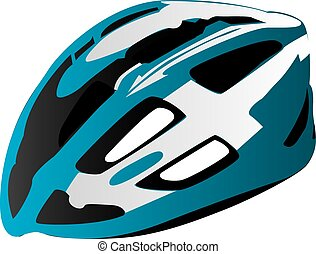 Bicycle safety helmet - Illustration of modern bicycle...
