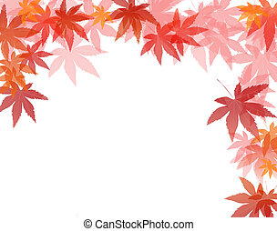 Abstract maple leaf border