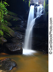 Northern Alabama Scenery - Beautiful waterfall in a rocky...