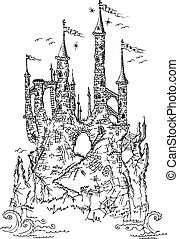 Gothic castle from fairytale III