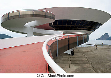 Oscar Niemeyer's Niter?i Contemporary Art Museum and Sugar...