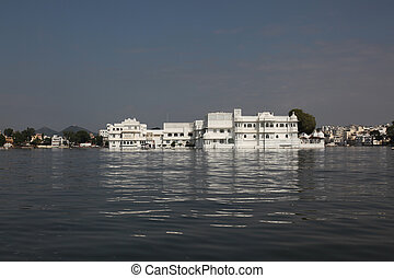 Lake Palace Udaipur - view at the Lake Palace Udaipur in...