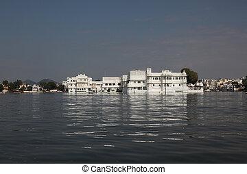 Lake Palace Udaipur - view at the Lake Palace Udaipur in...