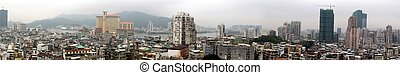 Panoramic view of Macao - view of the city of Macao
