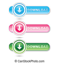 downloading signs - illustration of downloading signs on...