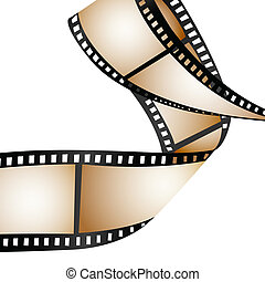film reel - illustration of film reel on white background