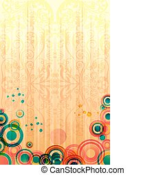 abstract colorful card