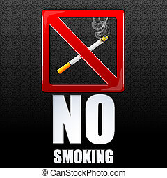 no smoking - illustration of no smoking on abstract...