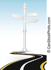 way with direction board - illustration of way with...