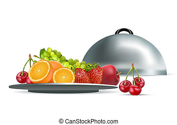 fresh fruits in plate