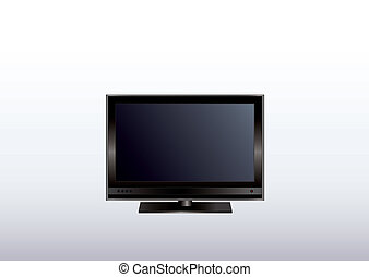 Flat screen monitor - Vector illustration of a flat screen...