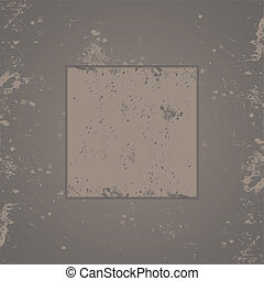 Gray grunge background frame