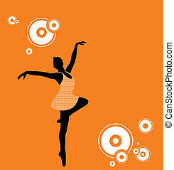 Ballet Dancer - Vector Illustration of a ballet dancer.