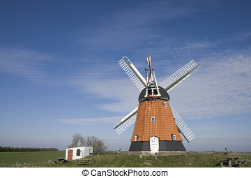 The Old Windmill - Old Windmill at the eastcoast of Jutland,...