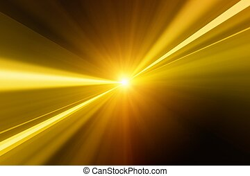 Golden flash - Abstract background - bright golden flash