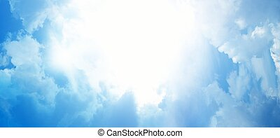 Light from heaven. Abstract background.