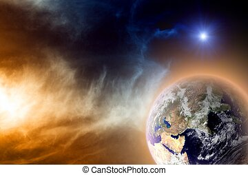 Planet in space - Scientific background - earth in space