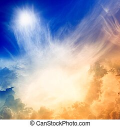 Light from heaven - Impressive view from heaven with bright...