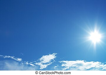 Sun in blue sky, peaceful view