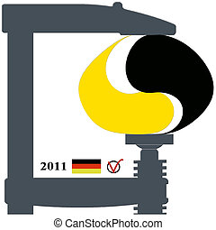 Germany in 2011 - A symbol for the election year 2011 in...