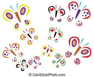 butterflys vector illustration