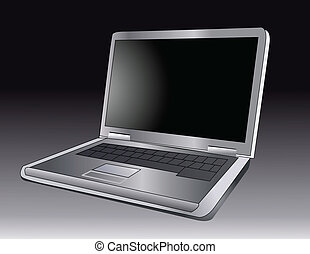 vector illustration of a laptop