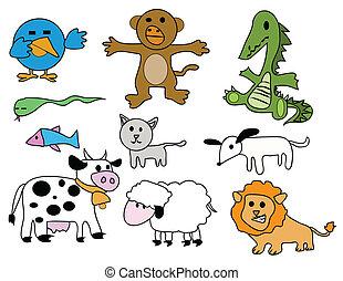 Vector set - stylized animals