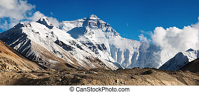 Mount Everest, North Face, view from tibetan base camp