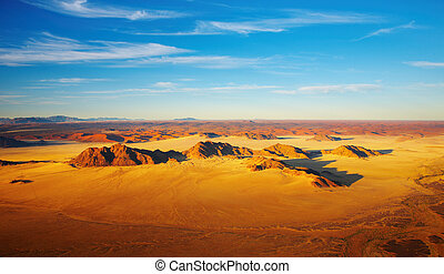 Namib Desert, dunes of Sossusvlei, birds-eye view