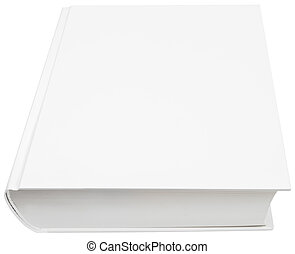 Front page of hard book cover - Image of blank white hard...
