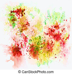 Abstract background, watercolor, hand painted on a paper...