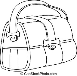Leather bag, contours