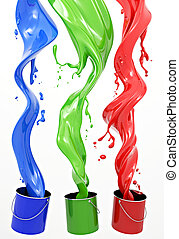 RGB Paint - Definition of RGB color system. Three colors in...