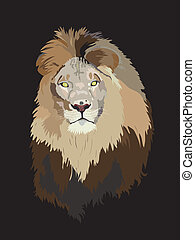 Lion head - vector illustration
