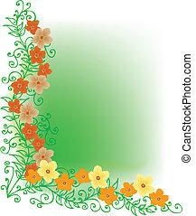 Refined Floral vignette In