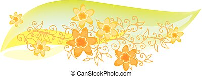 Refined Floral vignette In Color CCCVIII - Refined floral...