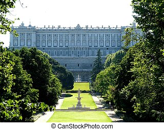 Palacio Real in Madrid, Spain - Palacio Real (royal palace)...