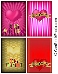 Set of St. Valentine's Day Card