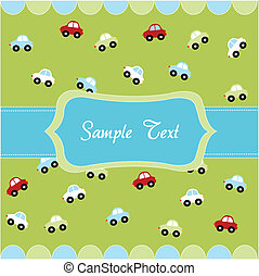 seamless pattern with little cars - Cute seamless pattern...