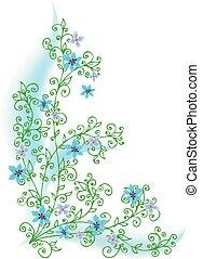 Refined Floral vignette - Refined floral vignette summertime...