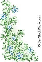 Refined Floral vignette In - Refined floral vignette...