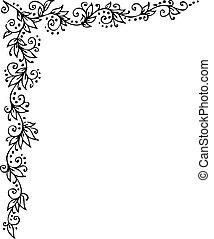 Floral vignette decorative background texture vector...