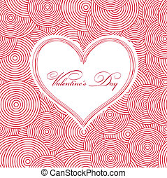 Seamless Swirl Pattern with heart. Vector